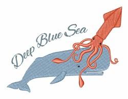 Deep Blue Sea embroidery design