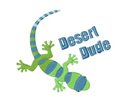 Desert Dude Lizard embroidery design
