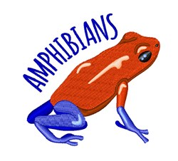 Amphibians embroidery design