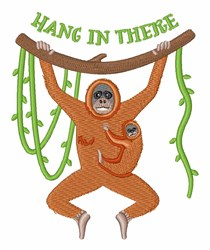 Hang In There Orangutans embroidery design