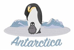 Antarctica Penguins embroidery design
