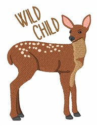 Wild Child Deer embroidery design