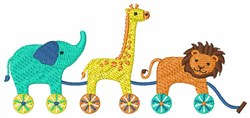 Toy Animals embroidery design
