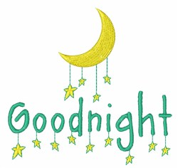 Goodnight embroidery design