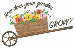 Garden Grow embroidery design