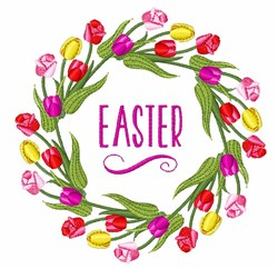 Easter Wreath embroidery design