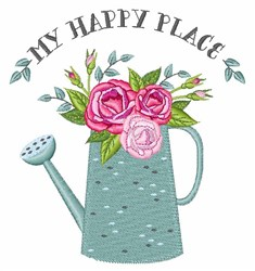 My Happy Place embroidery design