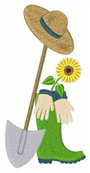 Gardening Tools embroidery design