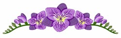 Freesia Flowers embroidery design