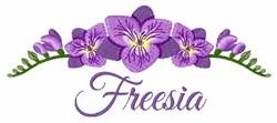 Freesia embroidery design