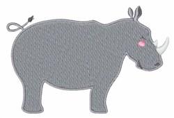 Rhinoceros embroidery design