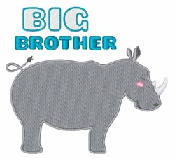 Big Brother Rhino embroidery design
