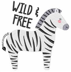 Wild & Free Zebra embroidery design