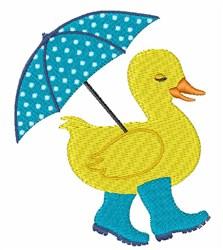 Rain Duck embroidery design