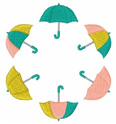 Rain Umbrellas embroidery design