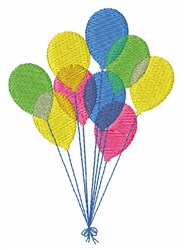 Birthday Balloons embroidery design