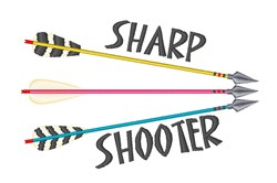 Sharp Shooter embroidery design