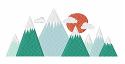 Snowy Mountains embroidery design