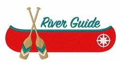 River Guide embroidery design