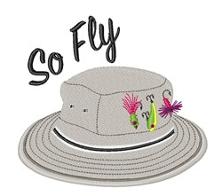 So Fly Hat embroidery design