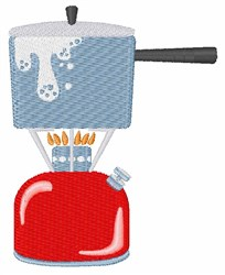 Camping Stove embroidery design