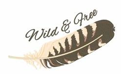 Wild Free embroidery design