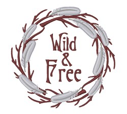 Wild & Free Wreath embroidery design