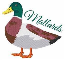 Mallards embroidery design