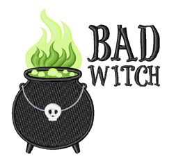 Bad Witch embroidery design