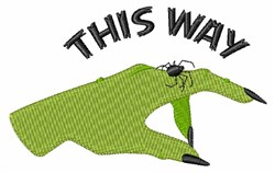 This Way Witch embroidery design