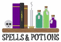 Spells & Potions embroidery design