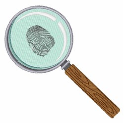 Fingerprint Clue embroidery design