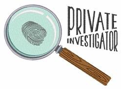 Private Investigator embroidery design