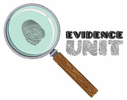 Evidence Unit embroidery design