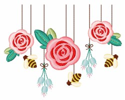 Spring Mobile embroidery design