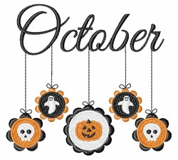 October Mobile embroidery design