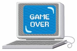 Computer Game Over embroidery design