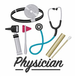 Physician embroidery design