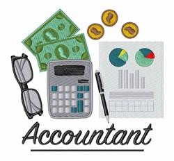 Accountant Profession embroidery design