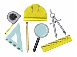 Architecture Tools embroidery design