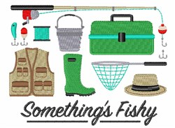Somethings Fishy embroidery design