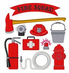 Fire Squad embroidery design