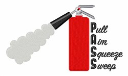 Extinguisher Directions embroidery design
