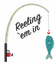 Reeling Em In embroidery design