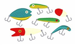 Fishing Lures embroidery design