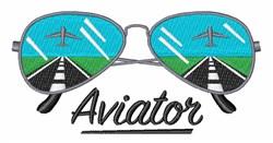 Aviator Glasses embroidery design