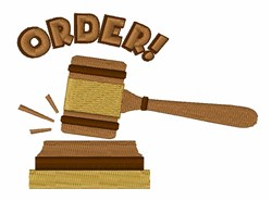 Courtroom Order embroidery design