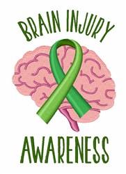 Brain Injury Awareness embroidery design