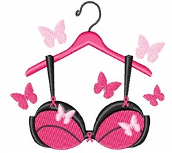 Breast Cancer Bra embroidery design