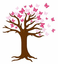 Butterfly Hope Tree embroidery design
